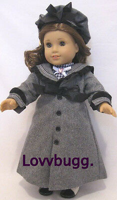 Gray Victorian Coat Hat Set for American Girl 18inch Doll Clothes FOUND LOVVBUGG Victorian Doll Clothes