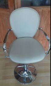 NEW CREAM FAUX LEATHER BAR STOOL
