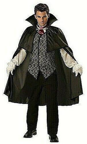 Halloween Costume Adults Mens Large MIDNIGHT VAMPIRE Dracula  MSRP= $119.99 NEW
