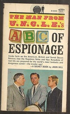 The Man From Uncle S Abc Of Espionage By John Hill  1St Printing  1966