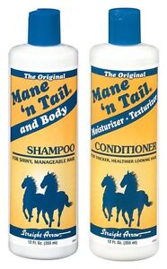 Straight Arrow Mane N Tail Shampoo 12oz  Equine Horse Show People Shine Groom