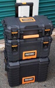 Ridgid 3 piece rolling tool boxes