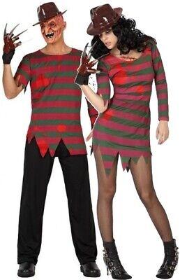 Paar Damen und Herren Bloody Nightmare Halloween Kostüm - Damen Verkleiden Outfits