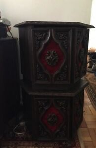 Regal side tables/nightstands with excellent storage!