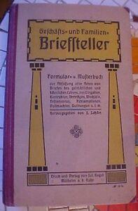 BRIEFFTELLER-Gefchafts-und-Familien-GERMAN-DEUTSCH-Business-OLD-MANUAL-GUIDE