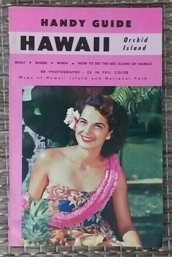 1970 Hawaii Orchid Island Handy Guide with 88 Photographs