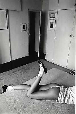Jeanloup Sieff 6x9 B&W Photo of Woman On A Bed, Signed