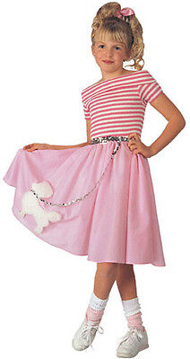 Nifty Fifties 50's Poodle Dress Pink Sock Hop Dress Up Halloween Child Costume](50s Dress Up)