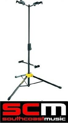 - HERCULES GS422B DOUBLE GUITAR DUO STAND AUTO GRAB SYSTEM / ADJUSTABLE BACKRESTS