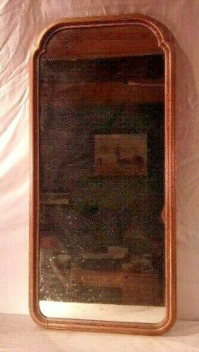 Antique ART DECO framed mirror 38x18 mirror 36x16  molding 1 1/4""