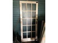 Glazed external door (single glazed panes)