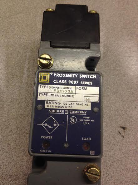 SQUARE D 9007-PSN223A PROIMITY SENSOR LIMIT SWITCH   (C#2)