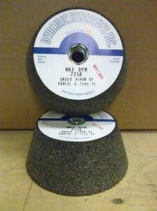 5'' Dia Type 11 Silicon Carbide Grinding Wheel (Coarse)