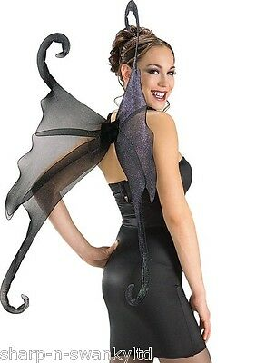 Damen XL Gothic Halloween Fallen Angel Feenflügel Kostüm (Fallen Angel Halloween Kostüme)
