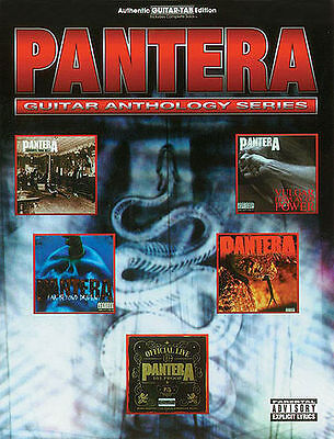 PANTERA - GUITAR ANTHOLOGY TAB MUSIC SONG BOOK