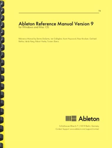 Ableton Version 9 REFERENCE OWNERS MANUAL
