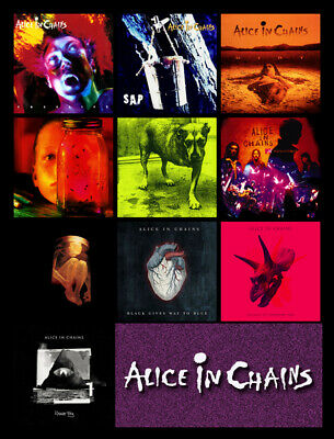 "ALICE IN CHAINS discography magnet (3.5"" x 3.5"") rainier fog facelift dirt sap"