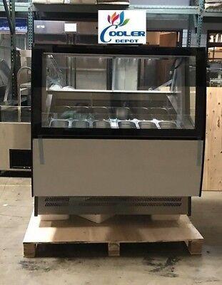 New 12 Pan Gelato Ice Cream Freezer Display Showcase Beautiful Design Ard-600l