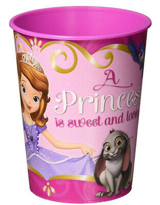 PRINCESS SOFIA THE FIRST plastic FAVOR CUP Birthday Party Supplies 16oz -