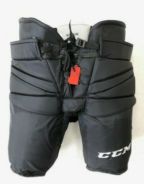 "New CCM Pro Stock ice hockey goalie pant black HPG14A Fit 3 +2"" senior XL 36 38"