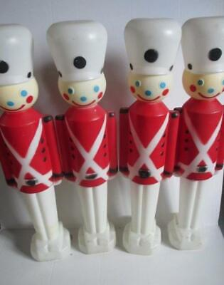 "4 Carolina Enterprises Lighted Blow Mold Toy Soldiers 30"". Christmas Yard Decor"