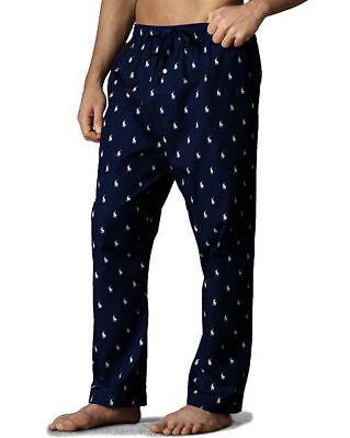 Polo Ralph Lauren Woven Cotton Lounge Pant - 4XL - Navy Blue - Pony Print