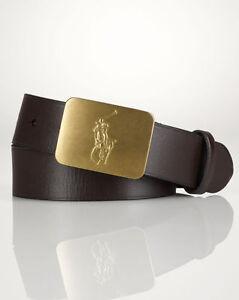 BNWT Ralph Lauren Mens Polo Leather Belt Brown RRP £90 Siize 38 Waist Authentic
