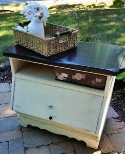 Farmhouse Painted and Refinished Media Cabinet/ End Table