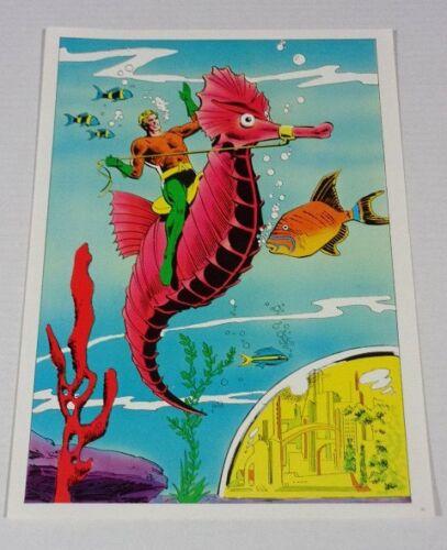 Rare vintage original 1978 DC Comics Aquaman comic book pin-up poster:JLA/1970