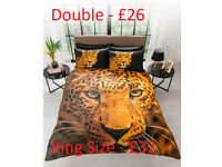 Leopard Duvet Set Double - £26 King Size - £32