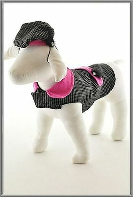 5TH Ave Collection Doggie Jacket w/faux pocket matching hat.  Small