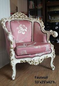 Set de salon Baroque italien antique, vintage ~1950