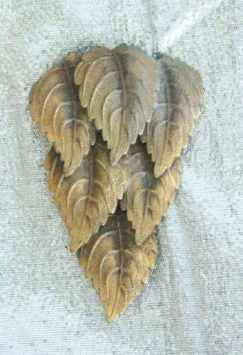 Edwardian Art Nouveau Gold-tone Leaf Cascade Dress Clip antique