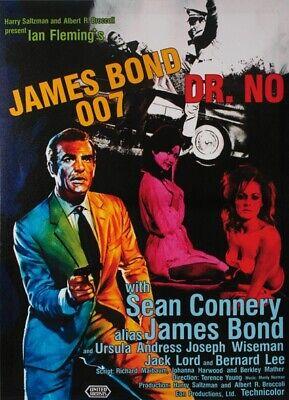 James Bond 007 Dr. No Kinoplakat Filmplakat Bild Plakat Leinen Holzrahmen 50x70