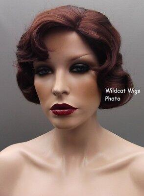 Finger Wave Fingerwave Wig Rose. DARK AUBURN .. Downton Abbey! Best Seller](Finger Wave Wig)