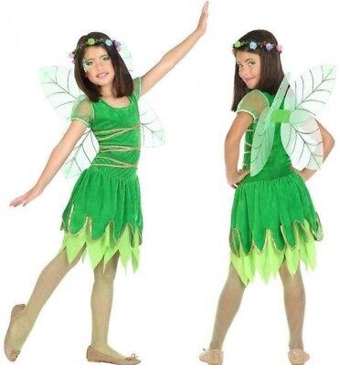 Kostüm Mädchen Tinker Bell Grün 7/8/9 Jahre Zeichnung - Tinkerbell Kostüm Mädchen