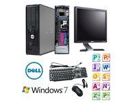 "Cheap Desktop PC Computer Set's, Dell Windows 7 Pro/ Office 2010, 17"" TFT Monitor * MUST LOOK *"