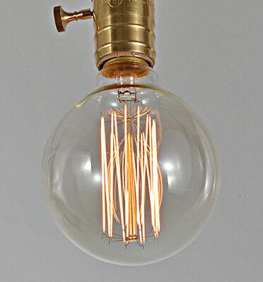 2x HG  Vintage G80A style 40W Carbon Edison Squirrel Cage Filament Light bulb
