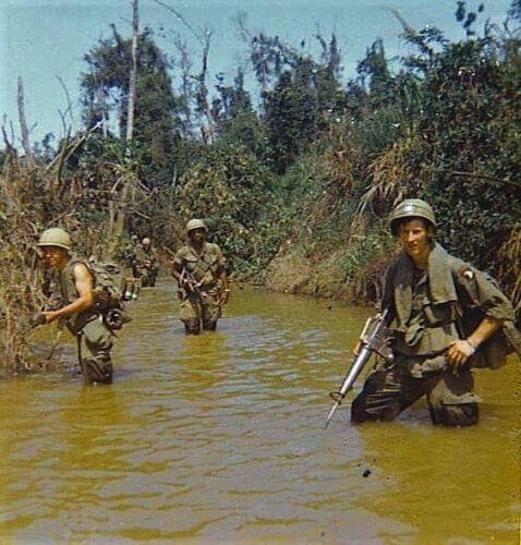Vietnam War 101st Air Patrol Chu Lai Grainey Big Borders Rough Glossy 8x10 Photo