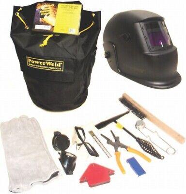 Welders Kit Auto-darkening Helmet Heavy Duty Gear Bag Mig Pliers Welding Gloves