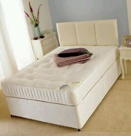 "New Orthopaedic Double 4ft 6"" Divan Bed with mattress Single & King also available"