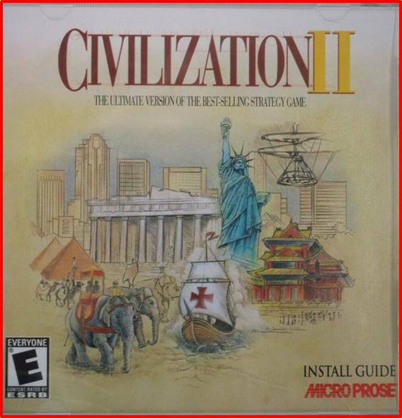 Computer Games - Sid Meier's Civilization II 2 - Windows CD-ROM Computer Strategy Game  FREE SHIP