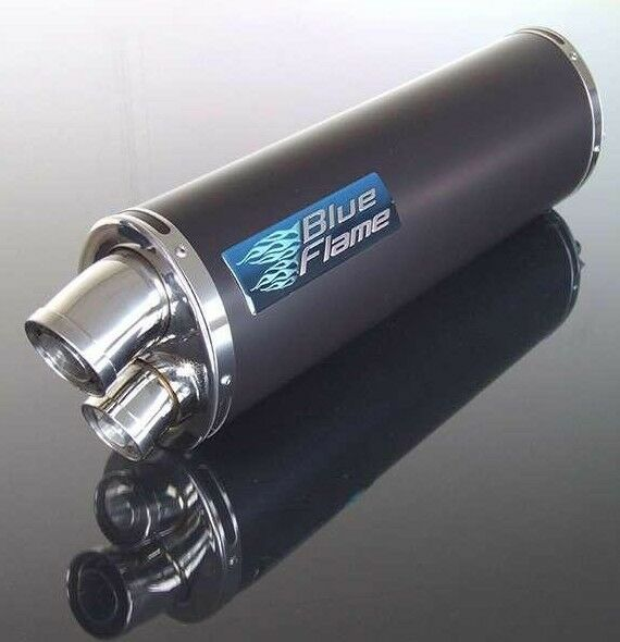 TRIUMPH 509 SPEED TRIPLE 1997-1998 BLUEFLAME SATIN BLACK TWIN PORT EXHAUST