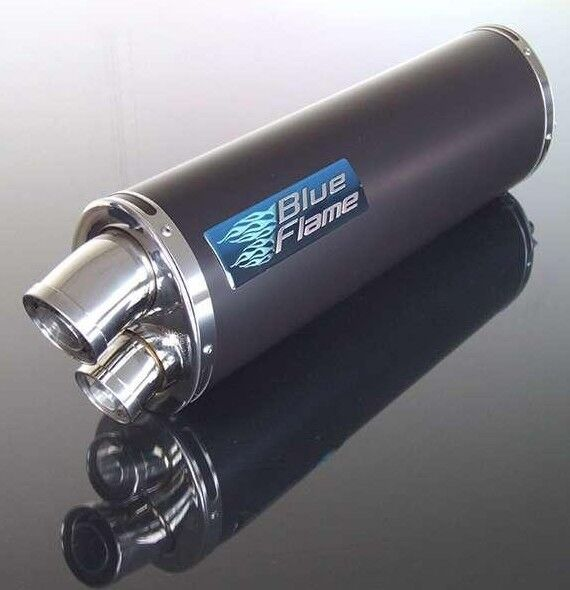 Triumph 955i Sprint ST 1998-04 satin black twin port motorcycle exhaust