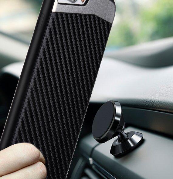 for iPhone 7/8 & 7+/8+ PLUS - Magnetic BLACK Carbon Fiber TP