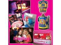 CANDY FLOSS, SLUSH, POPCORN, PUCKER POWDER, CANDY CARTS, BOUNCY CASTLES, FACE PAINTING