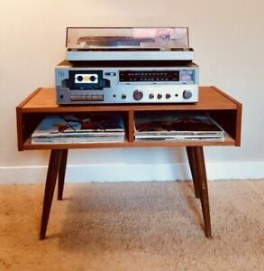 Mid Century Teak Stereo/Record Cabinet - FREE DELIVERY