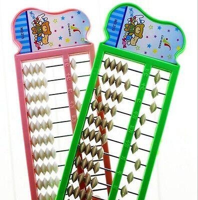 New Plastic Abacus  Arithmetic Soroban School Maths Kids Calculating Tool newWU