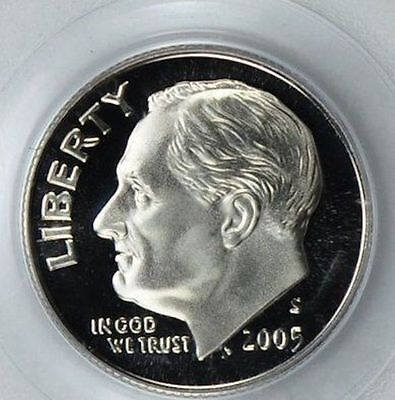 2005 SILVER ROOSEVELT DIME   GEM CAMEO PROOF  COIN SH22