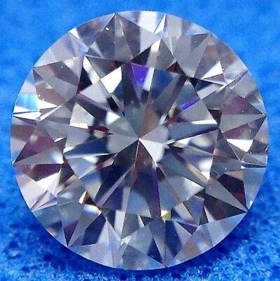 Round 7 mm 2.2 ct VVS G White Brilliant Lab Diamond Modern Cut Solitaire Gem